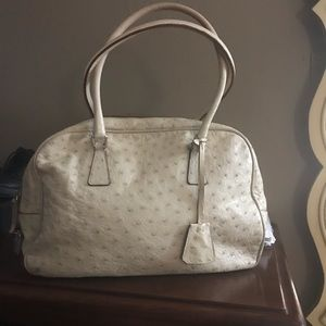 516894ade5b9 Prada Bags | Ostrich Leather Handbag Pocketbook Genuine | Poshmark